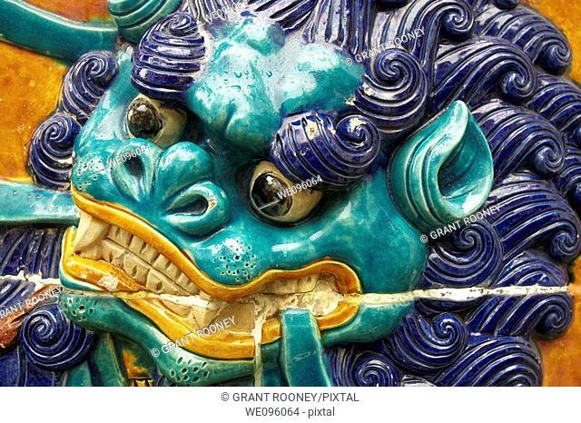 Colourful Wall Ceramics, Buddhist Temple, Chinatown