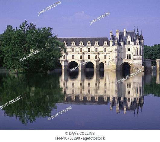 10753290, architecture, Chenonceau, Cher, et, EU, Europe, European, holidays, river, flow, France, Europe, French, Horizontal