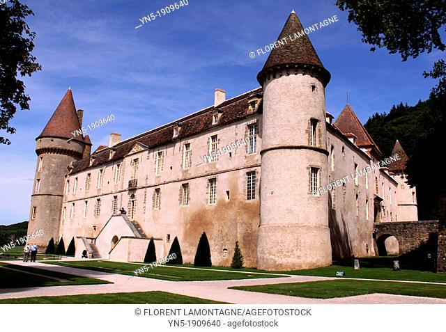 Tonw of France, Burgundy, Nièvre, Bazoches, town of the famous french military man and architect, Sebastien Le Prestre de Vauban 1633-1707, the castle