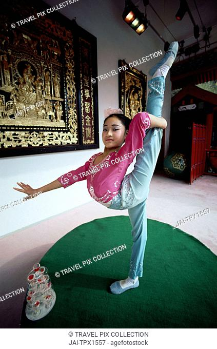 Acrobatics / Young Girl / Child Performing, Shanghai, China