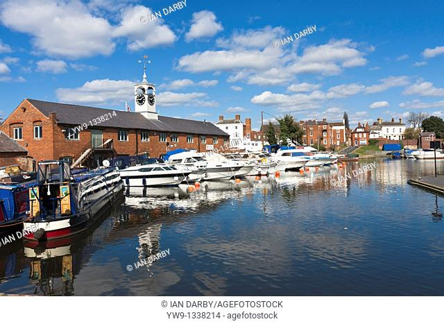 Boats moored in Stourport basin