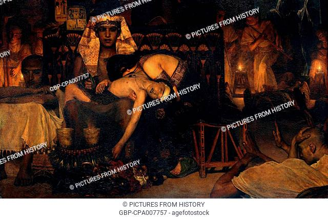 Religion: The Death of the Pharaoh's Firstborn Son'—an 1872 canvas by Dutch artist Laurens Alma Tadema