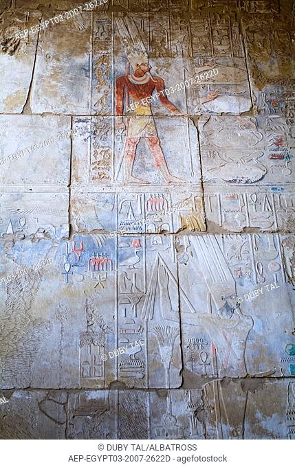 Photograph of the ruins of the Egyptain temple in Luxor