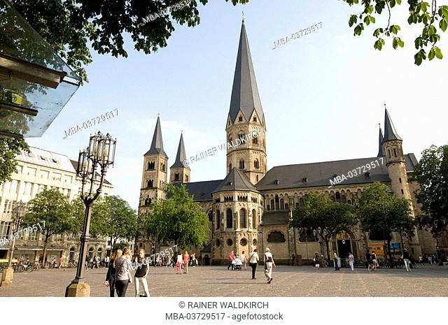 Europe, Germany, North Rhine-Westphalia, Bonn, cathedral basilica, Late-in Romance style, Old Town