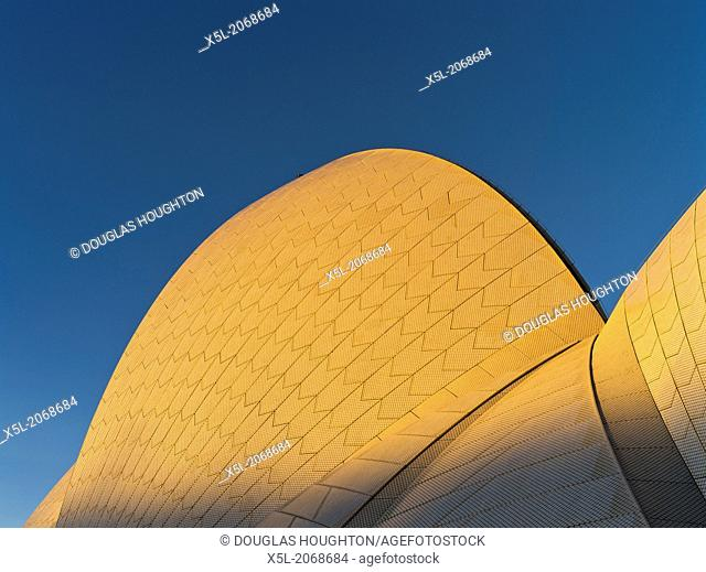 Sydney Harbour SYDNEY AUSTRALIA Sydney Opera House roof evening