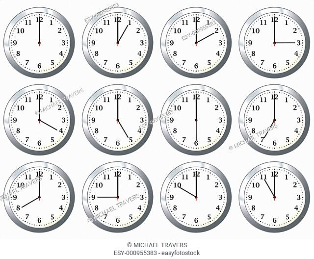 office clock all times