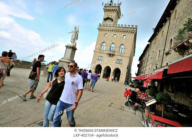At Palazzo Publico, San Marino near the Adriatic coast, San Marino