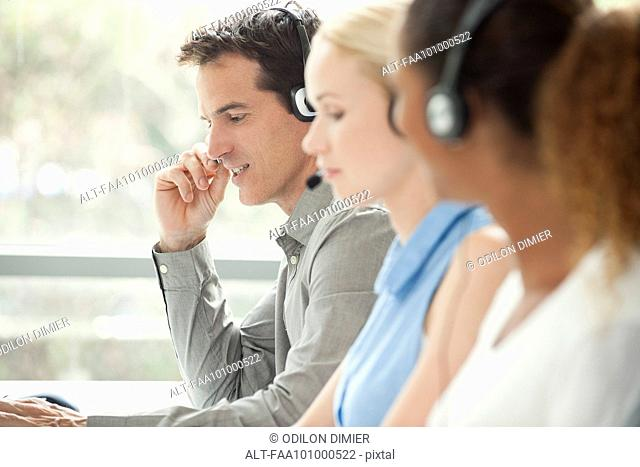 Working in call center