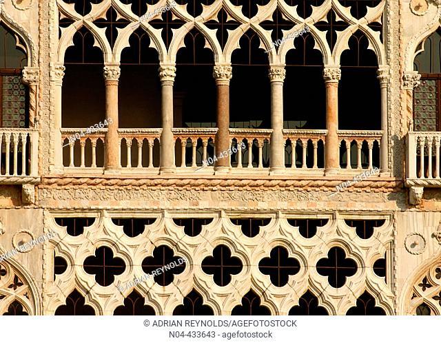 Ca d'Oro detail, Venice. Veneto, Italy