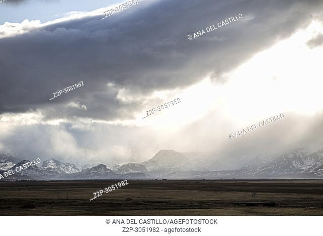 Winter landscape in Hvolsvöllur, Iceland