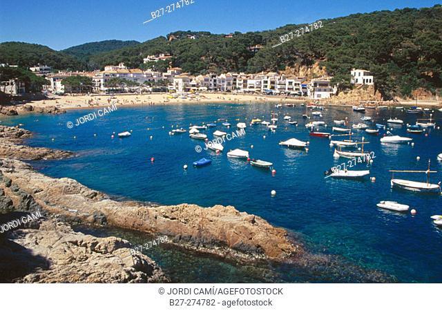 Tamariu Cove (Cala de Tamariu). Girona province. Catalonia. Spain
