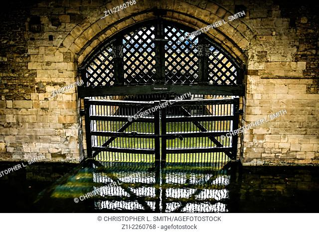 Traitors Gate into the Tower of London complex