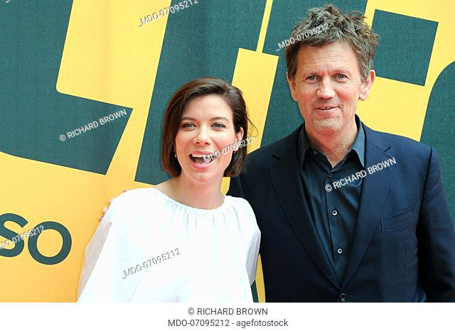 American actors Tessa Ferrer and Richard Brown attend the Sky TV series Catch-22 photocall. Rome (Italy), May 13th, 2019