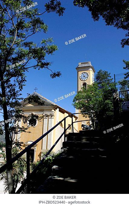 France ,Cote D'Azur, Eze L'Eglise Church of Notre-Dame de L'Assumption. Zoe Baker