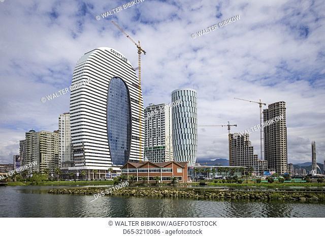 Georgia, Batumi, Batumi Boulevard seaside promenade, new architecture