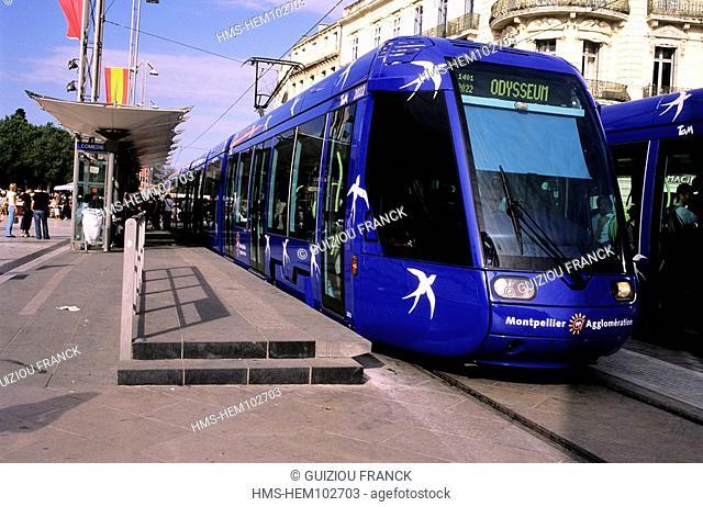 France, Herault, Montpellier, tramway