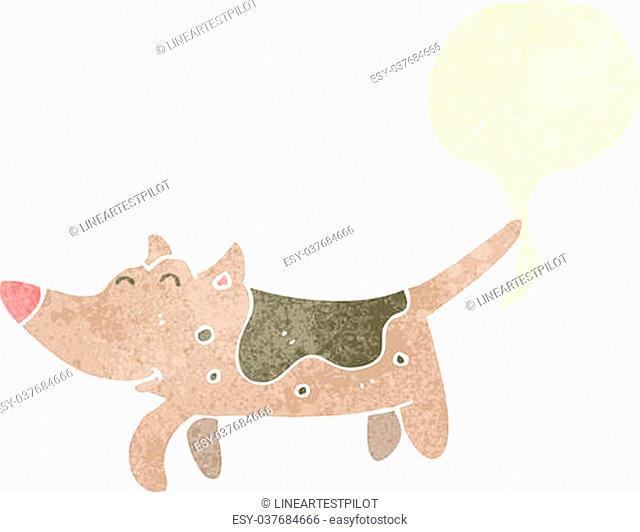 retro cartoon farting dog