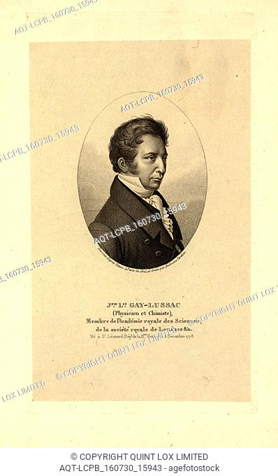 Jph. Lis. Gay-Lussac, engraved by Ambroise Tardieu
