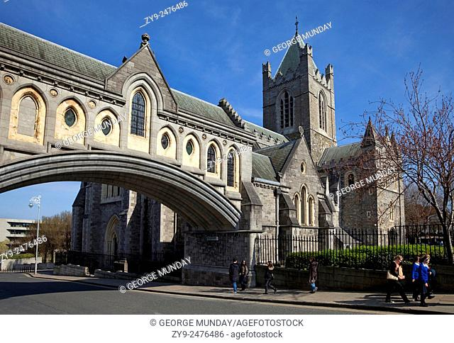 Bridge from the Synod Hall to Christ Church Cathedral, Rebuilt in 1878, Dublin City, Ireland
