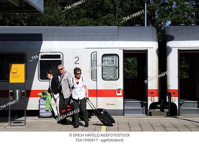 Older people on the platform