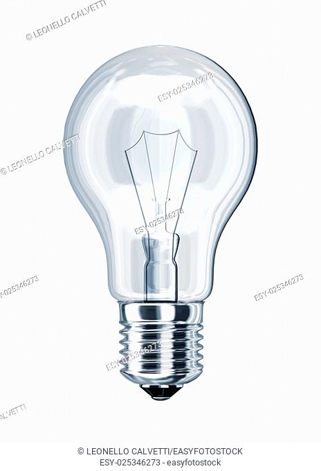 Light bulb classic, on white background. With clipping path