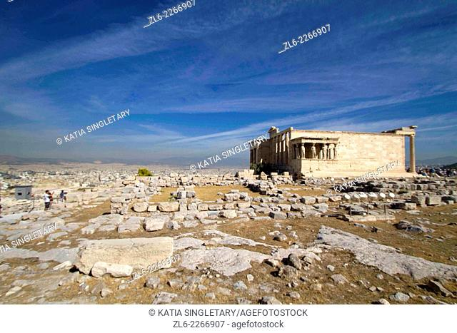 The Acropolis of Athens is an ancient citadel located on a high rocky outcrop above the city of Athens and containing the remains of several ancient buildings...