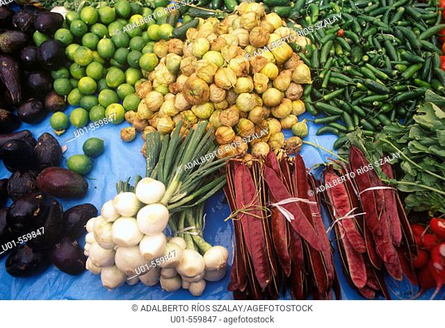 Vegetables  in a Mexican Market