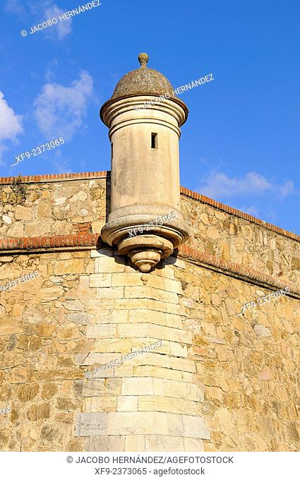 Detail of the fortification of Badajoz.18th century.Extremadura.Spain