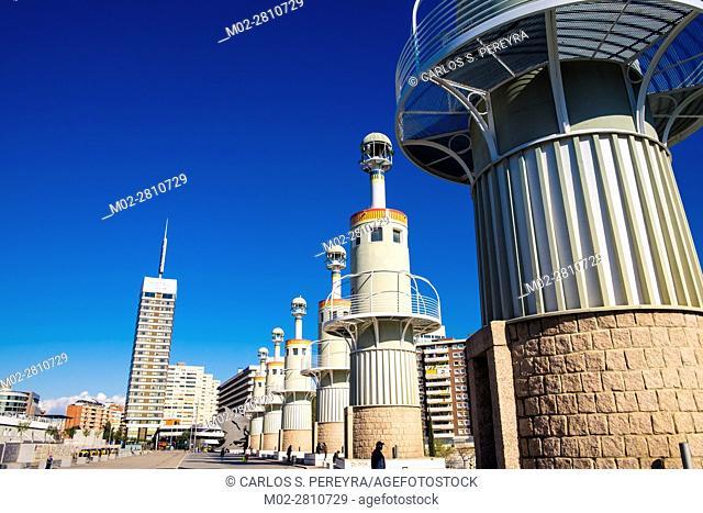 Spain Industrial park located near Sants train station at Barcelona, Spain