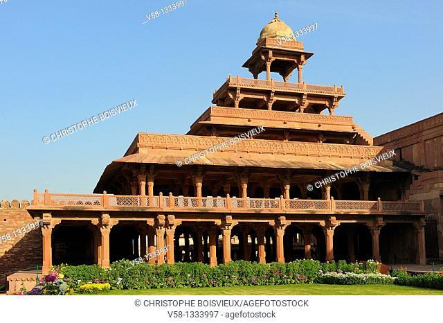 India, Uttar Pradesh, World Heritage Site, Fatehpur Sikri, Panch Mahal pavilion