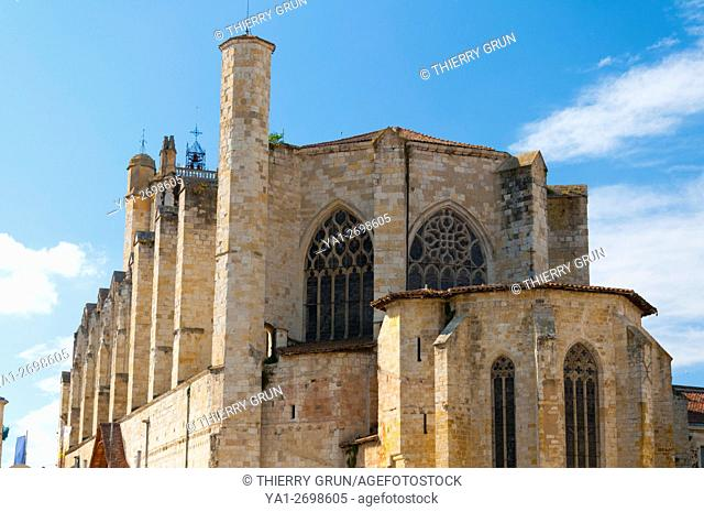 France, Gers (32), Town of Condom on the way of Saint Jacques de Compostelle, Cathedral Saint Pierre