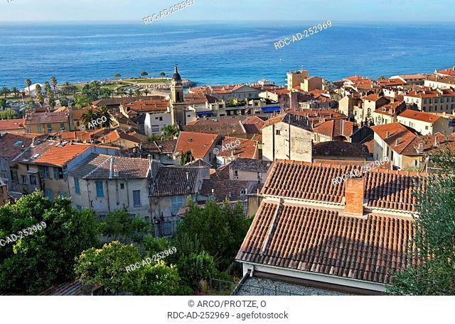 Old town Menton French Rivera Menton Cote d'Azur Provence Southern France France