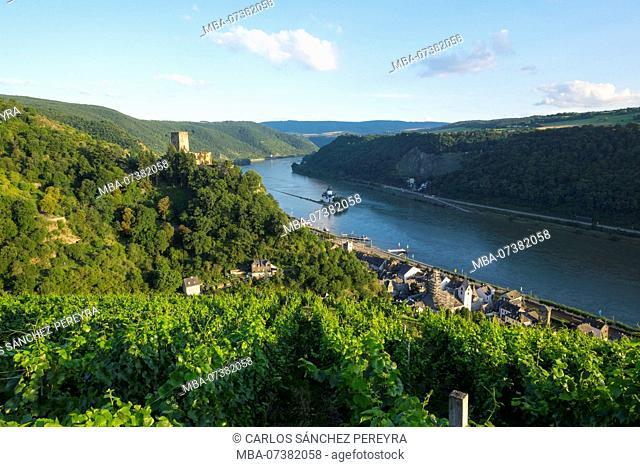 Gutenfels Castle, Kaub, Rhineland-Palatinate, Germany, Europe