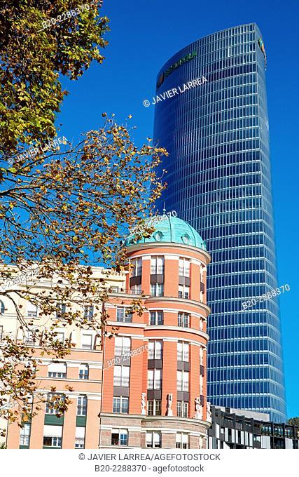 Iberdrola Tower, Plaza Euskadi, Bilbao, Bizkaia, Basque Country, Spain