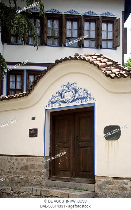 Entrance to the house of Hadji Vlassaky Chohadziyata, late 18th century, old town of Plovdiv, Bulgaria