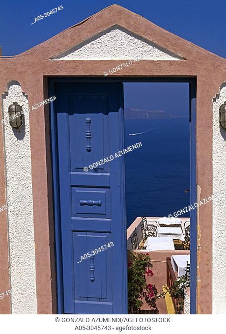 Thira. Santorini Island. Cyclades Islands. Greece