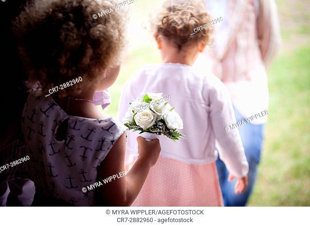 Bridesmaid at a wedding