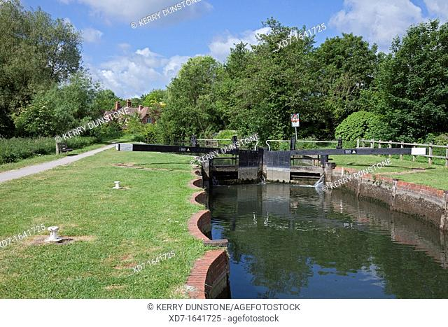 England Berkshire Theale Sheffield Lock on the Kennet and Avon Canal