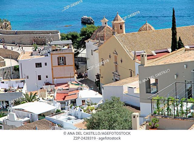 Panorama from Dalt Vila Ibiza Balearic islands Spain