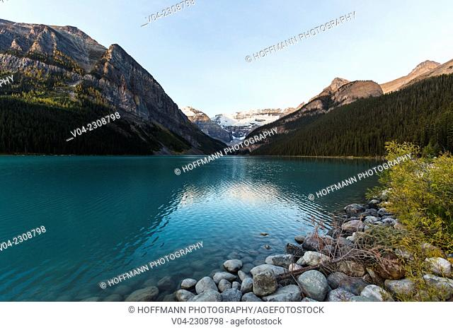 Dawn at Lake Louise in the Banff National Park, Alberta, Canada