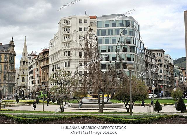 Circular square, Bilbao, Biscay, Basque Country, Spain