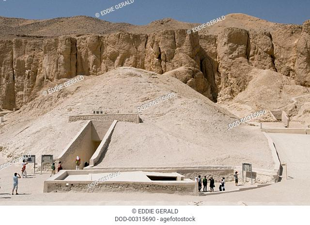 Egypt, Luxor, Valley of the Kings, entrance to the tombs