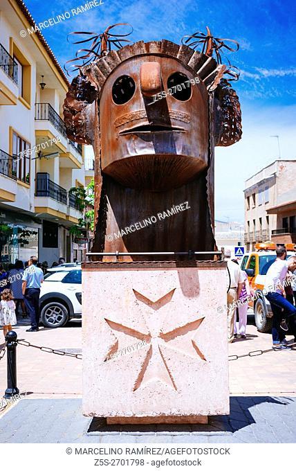 Monument to the Danzantes and Pecados. Camuñas, Toledo, Castilla La Mancha, Spain, Europe