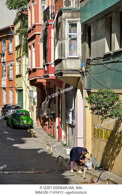 A street in Haciosman Cikmazi. Istanbul, Turkey, Asia