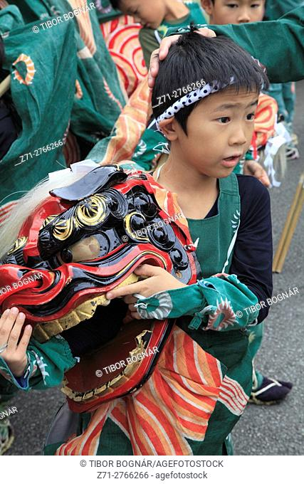 Japan, Gifu, Takayama, festival, procession, people, boy,