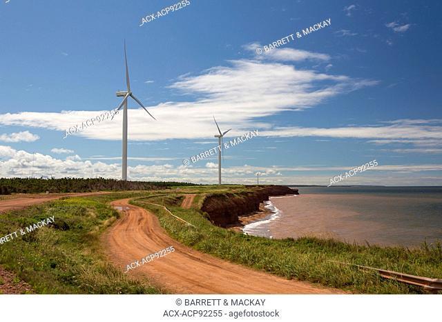 Wind turbines, wind test site, Norway, Prince Edward Island, Canada