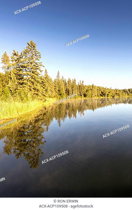 Moon Lake in Riding Mountain National Park, Manitoba, Canada