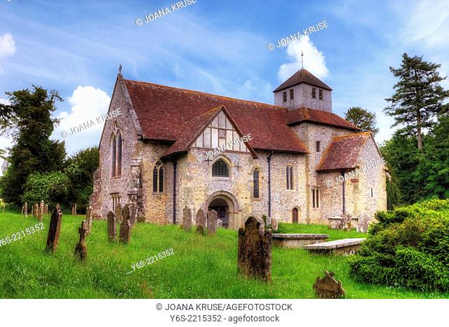 St Mary's church, Breamore, Hampshire, England, United Kingdom