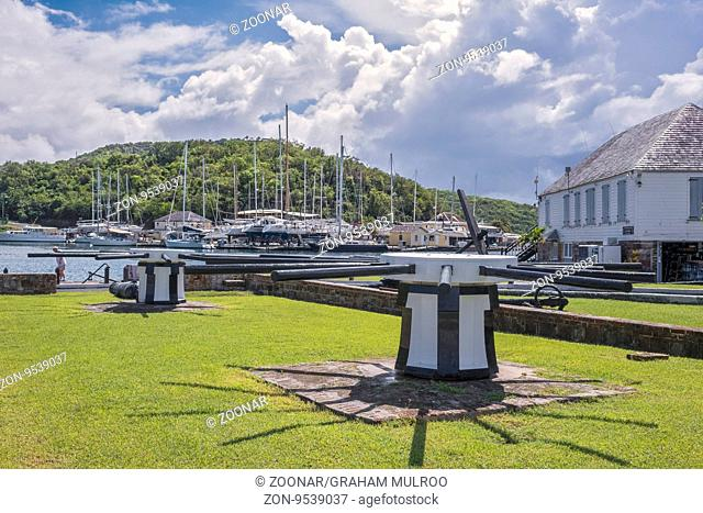 Capstans At Nelson's Dockyard English Harbour Antigua
