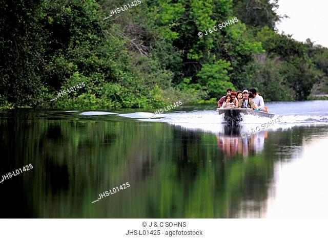 Tourist Trip Pantanal, Eco friendly river Safari, Pantanal, Mato Grosso, Brazil, South America
